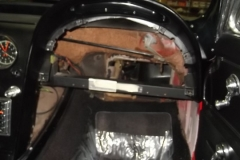 101 interior components removed, ready for new AC box