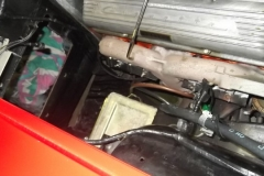 106 Heater box, battery, coolant reservoir removed