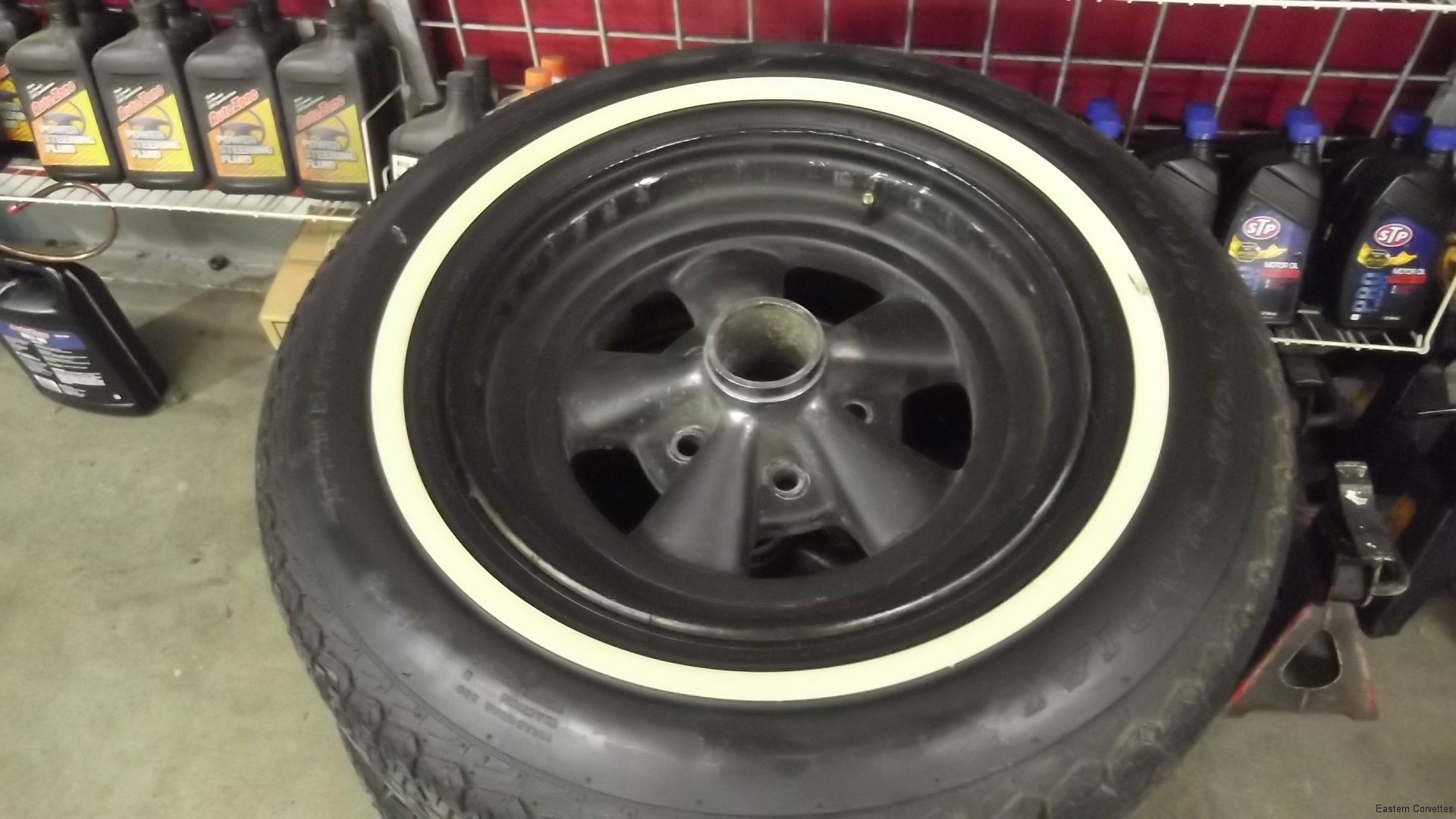 102 aftermarket wheels - multi lug - with painted edges to appear more original